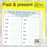 Past & present tense (6 Literacy sheets)