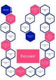 Past simple excuses board game
