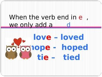 Past tense regular verbs