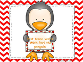 Past tense verbs with Peri the penguin interactive power-p