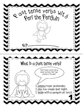 Past tense verbs with Peri the penguin interactive mini-book