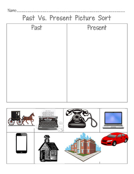 Past vs. Present Picture Sort