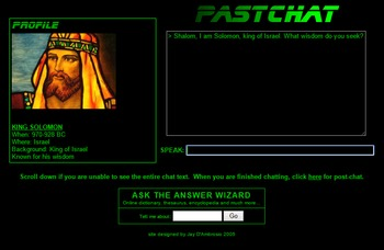 PastChat: Simulated chat with historical figures from the ancient world!