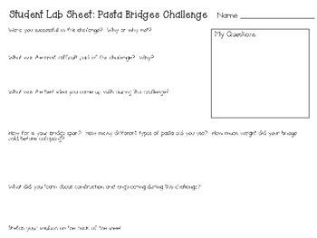 Pasta Bridges: Engineering Challenge Project ~ Great STEM Activity!
