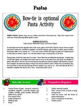 Pasta Game / Activity