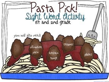 Phonics: Pasta Pick - Sight Word Spaghetti