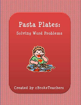 Pasta Plates Word Problems Activity