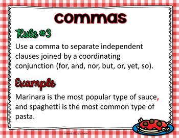 Pasta Punctuation (Commas, Dashes, Parentheses, Quotation Marks), L.6.2a, L.5.2a