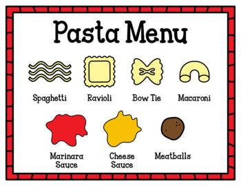 Pasta Shop (Dramatic Play)