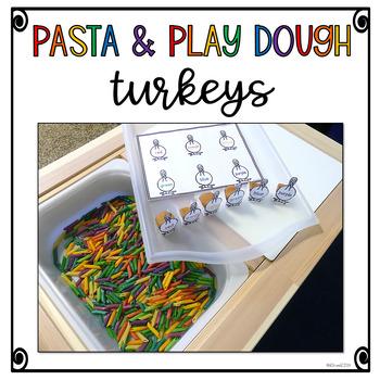 Pasta and Play Dough Turkeys