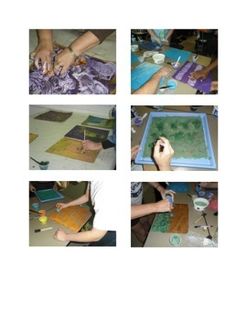 Paste Paper: Using tools   reading, math, science, art lesson for common core