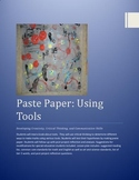 Paste Paper: Using tools   reading, math, science, art les