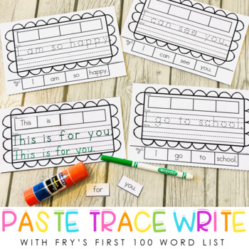 Paste, Trace, & Write for Beginning Writers