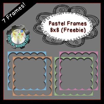 Pastel 8x8 Digital Frames (FREEBIE)