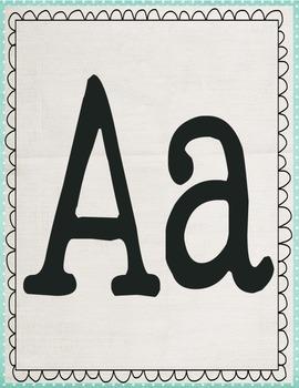 Pastel Alphabet Posters