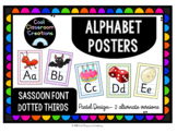 Pastel Alphabet Posters- Dotted Thirds