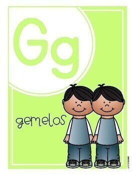 Pastel Alphabet Posters in Spanish