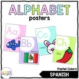 Pastel Alphabet Posters (Spanish)