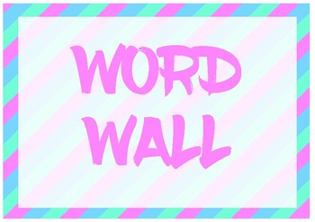 Pastel Alphabet Word Wall