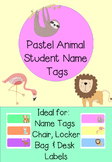 Pastel Animal Name Tags