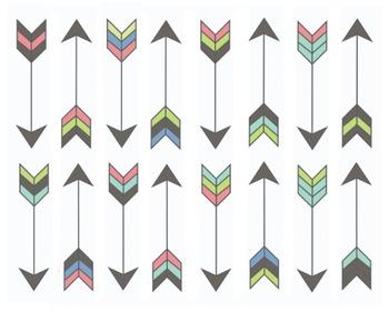 Pastel Arrow Clipart Set #028