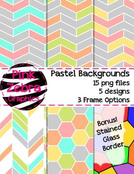 Pastel Backgrounds {and Bonus Stained Glass Background!}