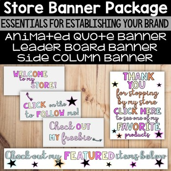 Pastel Banner Package - For TpT Sellers