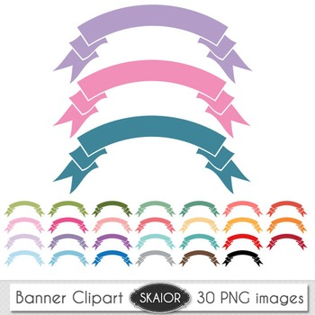 Pastel Ribbons Clipart Banners Clipart Color Ribbons Rainbow Scrapbooking