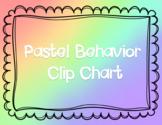 Pastel Behavior Clip Chart