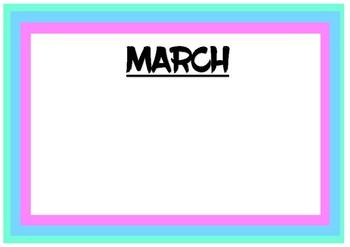 Pastel Birthday Chart