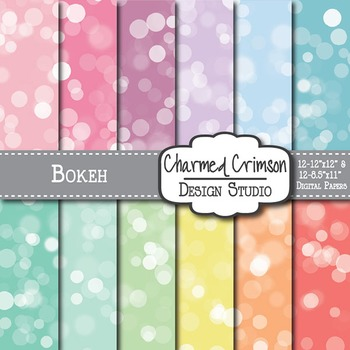 Pastel Bokeh Digital Paper 1292