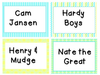 Pastel Book Bin Book Tub Themed Labels