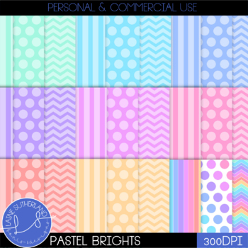 Pastel Brights Digital Paper