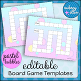 EDITABLE Board Game Templates | Pastel Bubbles