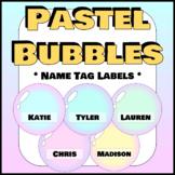Pastel Bubbles Name Tag Labels