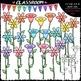 Pastel Clip Art & B&W Bundle (4 Sets) - Birds, Flowers