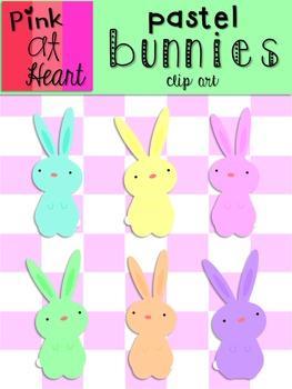 Pastel Bunnies Clip Art
