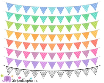 Pastel Bunting Clip Art