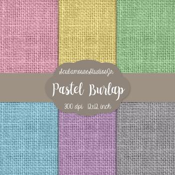 Pastel Burlap Digital Paper, Burlap Background, Commercial Use