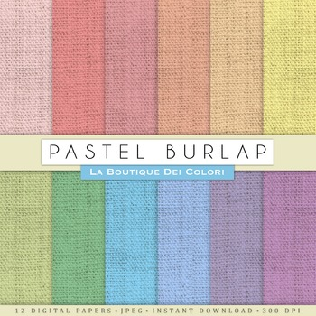 Pastel Burlap Digital Paper, scrapbook backgrounds