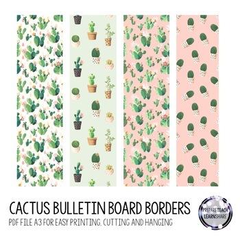 Pastel Cactus Themed Classroom Bundle Pack