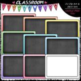 Pastel Chalkboards Clip Art - Blackboards Clip Art