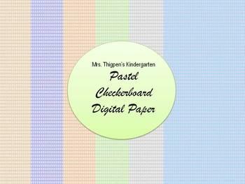 Pastel Checkerboard Digital Paper