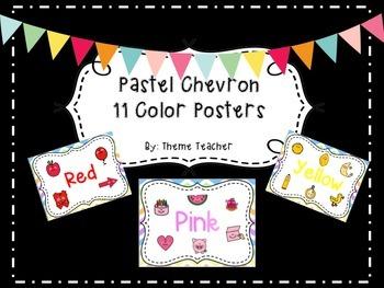 Pastel Chevron 11 Color Posters