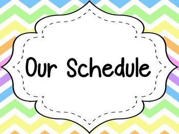 Pastel Chevron 30 Daily Schedule Cards