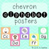 Pastel Chevron Alphabet Posters