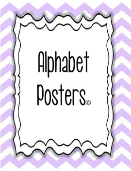 Pastel Chevron Alphabet, Shape and Number Poster Pack