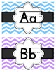 Pastel Chevron Alphabet Word Wall