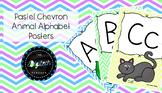 Pastel Chevron Animal Alphabet Posters