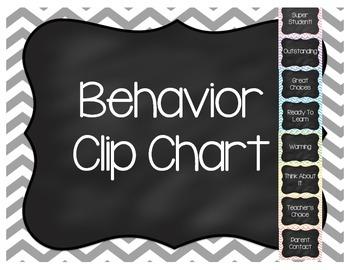 Pastel Chevron Behavior Clip Chart